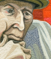 ARTIST WITH GREEN HAT: detail
