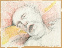 Dad, November 25, 2013, graphite, crayon and chalk on paper